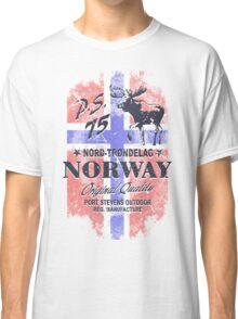 Moose - Norway Flag - Vintage Look Classic T-Shirt
