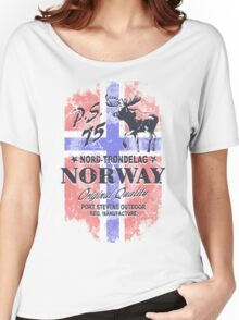 Moose - Norway Flag - Vintage Look Women's Relaxed Fit T-Shirt