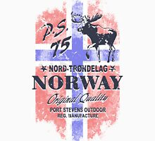 Moose - Norway Flag - Vintage Look Unisex T-Shirt