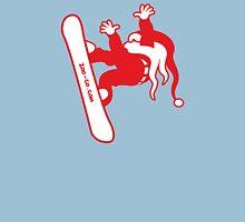 Santa Claus Goes Snowboarding Unisex T-Shirt