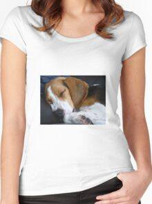 Beagle dog Women's Fitted Scoop T-Shirt