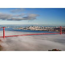 San Francisco Cityscape Golden Gate Bridge Photographic Print