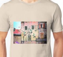 The Essence of Croatia - White Doves in Dubrovnik Unisex T-Shirt