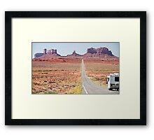 Monument Valley Utah, RV Camper Holiday Framed Print