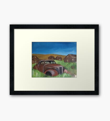A Rusty Grave Framed Print