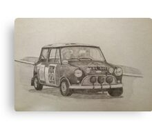 Classic Mini Cooper Rally Car Canvas Print