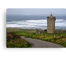 Irish Castle In Doolin, County Clare, Ireland Canvas Print