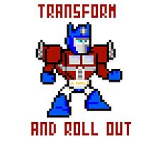 8bit Optimus Prime Transformers Photographic Print