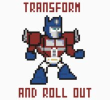 8bit Optimus Prime Transformers Kids Tee