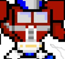 8bit Optimus Prime Transformers Sticker