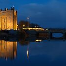 Irish Castle, Bunratty Castle At Night, County Clare, Ireland by Noel Moore Up The Banner Photography