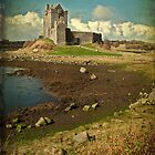 Irish Castle Dunguaire, County Galway, Ireland by upthebanner