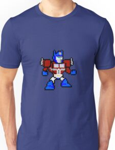 8bit Optimus Prime Transformers no text Unisex T-Shirt