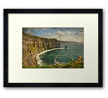 Famous Cliffs OF Moher, County Clare, Ireland Framed Print