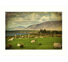 Connemara Irish Nature Rural Scenic Landscape. Art Print