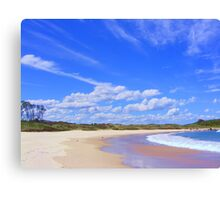 Beach Reflections - near Frasers Reef - NSW Canvas Print