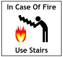 In case of fire ... use stairs! by Elisa88
