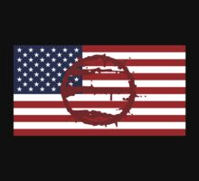 Hotline Miami: 50 Blessings On US Flag by Djidiouf