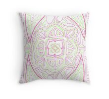 Psychedelic Lily Throw Pillow