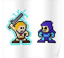 He-man, Skeletor fight! MYAAAAAAAAHH! no text Poster