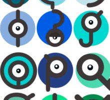 Unown Alphabet - 2nd Gen Sticker