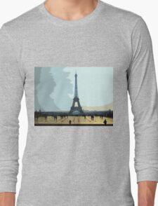 Interpretation Of The Eiffel Tower In Paris II Long Sleeve T-Shirt