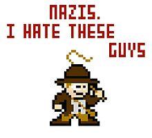 8bit Indiana Jones Hates Nazis by miffed
