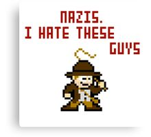 8bit Indiana Jones Hates Nazis Canvas Print