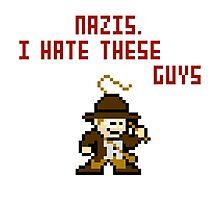 8bit Indiana Jones Hates Nazis Photographic Print