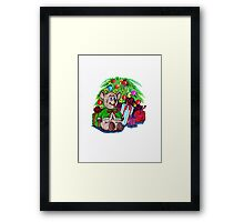 Visions of Christmas Morning Framed Print