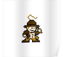 8bit Indiana Jones no text Poster