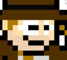 8bit Indiana Jones no text Sticker