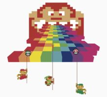 8 Bit Nintendo Rainbow One Piece - Short Sleeve