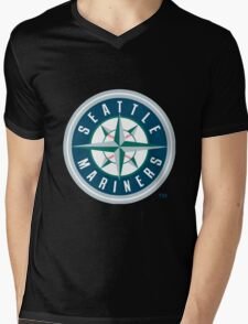 Seattle Mariners Mens V-Neck T-Shirt