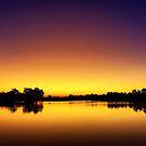 Sunset at Longreach Waterhole by Peter Doré