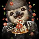 SLOTH LOVES PIZZA by MEDIACORPSE