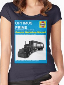 Owner Manual G1 Optimus Prime Women's Fitted Scoop T-Shirt