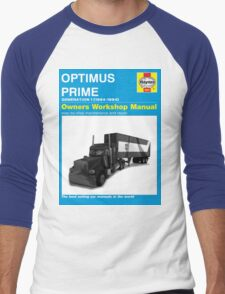 Owner Manual G1 Optimus Prime Men's Baseball ¾ T-Shirt