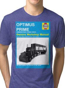 Owner Manual G1 Optimus Prime Tri-blend T-Shirt