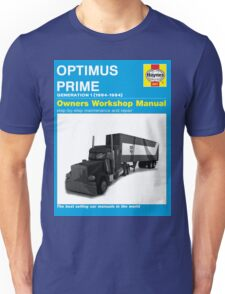 Owner Manual G1 Optimus Prime Unisex T-Shirt