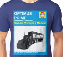 Owner Manual G1 Optimus Prime Unisex T-Shirt