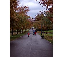 October fun in Pittencrieff Park,Dunfermline Photographic Print