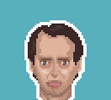 Steve Buscemi Pixel Art Illustration by Sascha Naderer