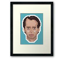 Steve Buscemi Pixel Art Illustration Framed Print