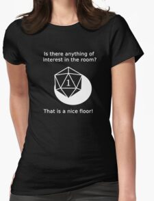 D20 Critical failure - Perception Womens Fitted T-Shirt