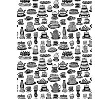 Vintage Tea Party Pattern Photographic Print