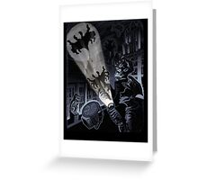 BAT SIGNAL Greeting Card