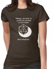 D20 Critical failure - Persuasion Womens Fitted T-Shirt