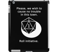D20 Critical failure - Persuasion iPad Case/Skin