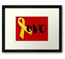 Red Friday - Yellow Ribbon Framed Print